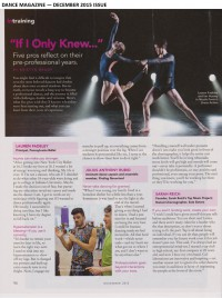 Lauren Fadeley - Dance Magazine article