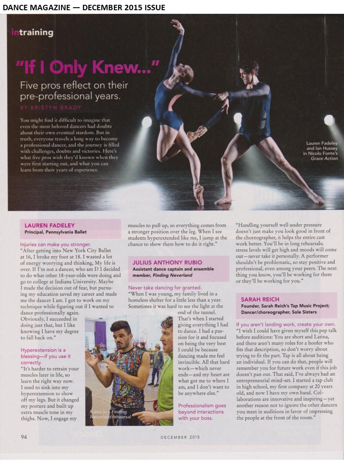 ballet flow paper articles